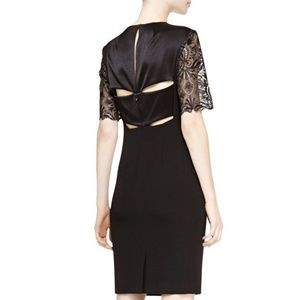 NWT Escada Dajela Lace Sleeve Cut Out Dress FLAWED